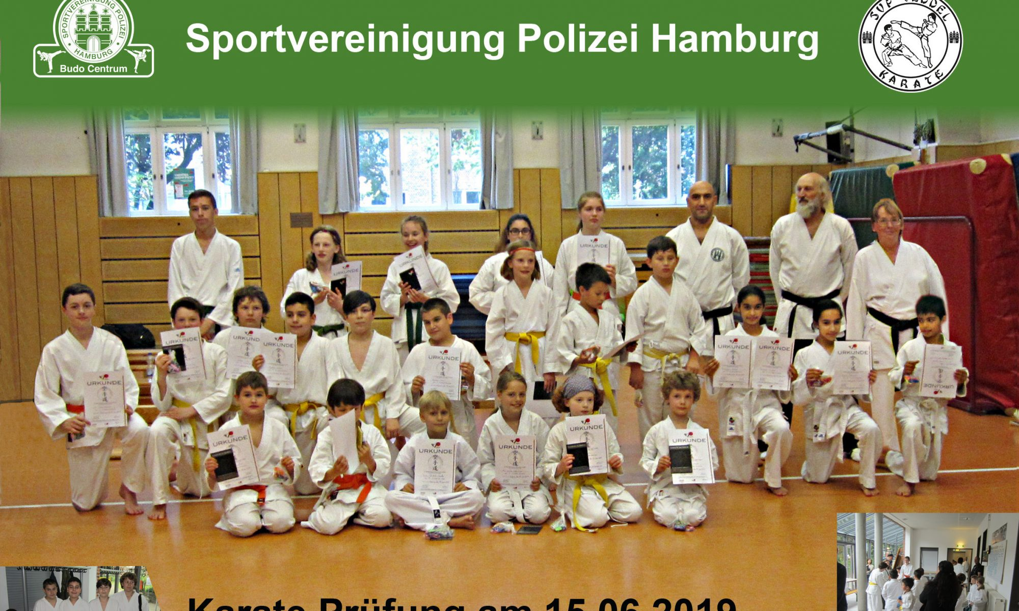Karate Prüfung der SV Polizei Hamburg 2019