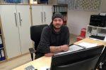 Florian Jabusch, Officemanager im Geschäftszimmer des Budocentrums der Sportvereinigung Polizei Hamburg