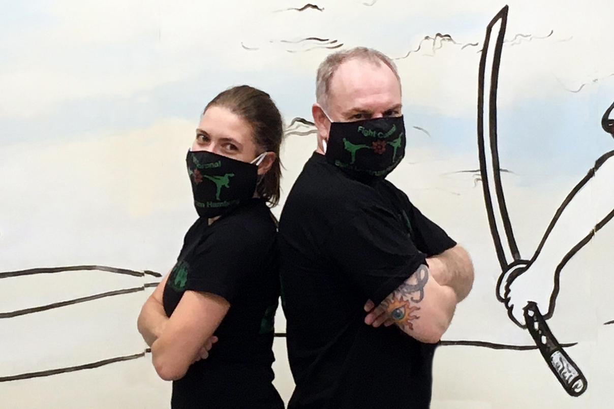 Engagieren sich in der Presse und Öffentlichkeitsarbeit für die Budoabteilung der Sportvereinigung Polizei Hamburg: Anja Steusloff und Andreas Rasche